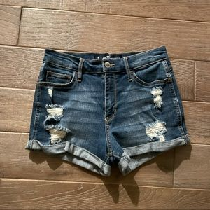 Hollister High-Rise Distressed Jean Shorts
